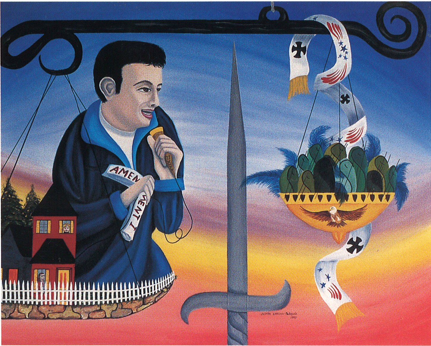 "The Bruce Act (featuring Lenny Bruce) - oil/acrylic on canvas 24"" X 30"""
